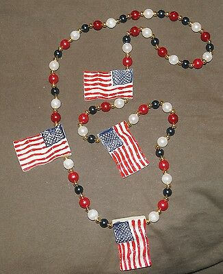 Independence Day Flag Necklace HS1