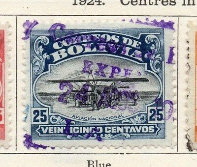 Bolivia 1924 Early Issue Fine Used 25c. 113345