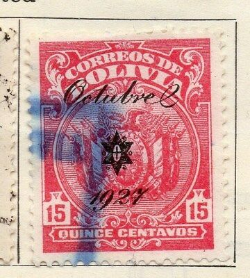 Bolivia 1928 Early Issue Fine Used 15c. Optd 1927 113354