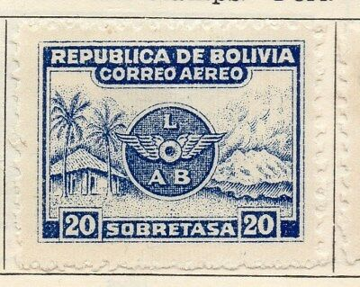 Bolivia 1928 Early Issue Fine Mint Hinged 20c. 113357