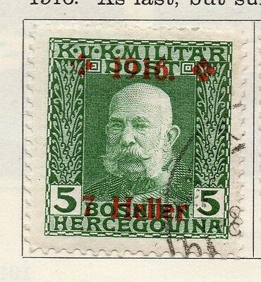 Bosnia Herzegovina 1916 Early Issue Fine Used 7h. Surcharged 113370