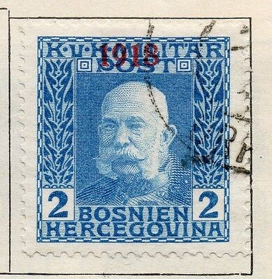 Bosnia Herzegovina 1918 Early Issue Fine Used 2h. Optd 113432