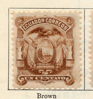 Ecuador 1881 Early Issue Fine Mint Hinged 1c. 113438