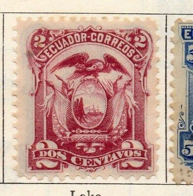 Ecuador 1881 Early Issue Fine Mint Hinged 2c. 113439