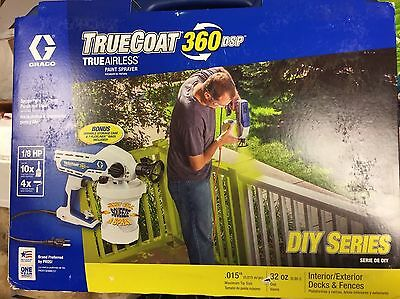 Graco Truecoat 360DSP 16Y386 Electric Airless Paint Sprayer Gun Kit New Sealed