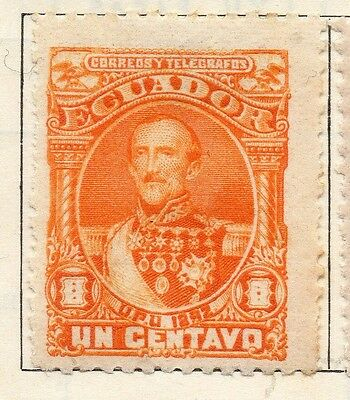 Ecuador 1892 Early Issue Fine Mint Hinged 1c. 113448
