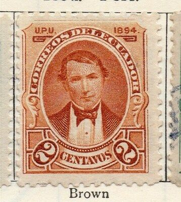 Ecuador 1894 Early Issue Fine Mint Hinged 2c. 113456
