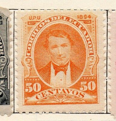 Ecuador 1894 Early Issue Fine Mint Hinged 50c. 113460