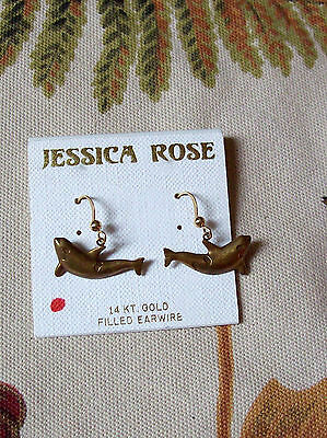 Jessica Rose 14 Kt Gold Filled Earwire Killer Whale Orca Dolphin Earrings Whales