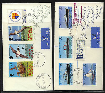Tristan da Cunha   2 covers to  US  one  registered                   KEL0830