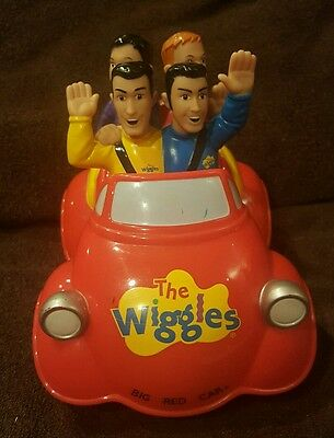 """2003 Spinmaster The Wiggles Touring Party 8"""" Big Red Car Singing Push drive Jeff"""
