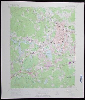 Crompton Rhode Island Tiogue Lake West Warwick vintage 1977 old USGS Topo chart