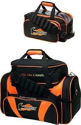 TWO Hammer 2 Ball Shoulder Tote Bowling Bags 1 With Shoe Pocket & 1 Without