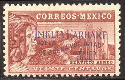 MEXICO# C74 SCARCE Mint - 1935 Amelia Earhart Flight