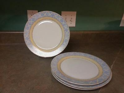 Set Of 4 Dinner Plates Enchanted Garden Fine China- Heritage Mint