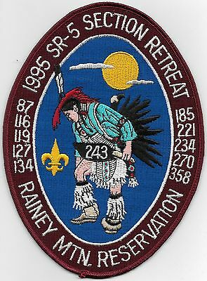 1995 SR-5 Section Retreat Rainey Mountain Reservation Jacket OA patch