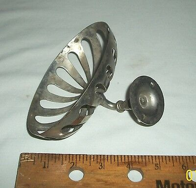 Antique Nickel Chrome ? Plated Oval Bathroom Soap Dish Sponge Holder Wall Mount