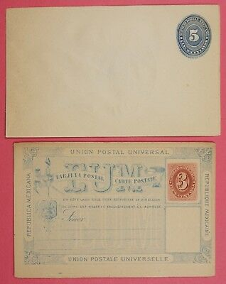 2 Mexico Early Postal Card & Stationery Unused