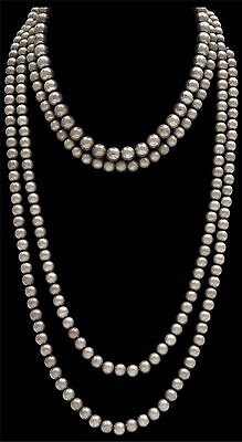 LOULABELLE Signature Silver finish 8mm bead necklace Southwestern Gypsy