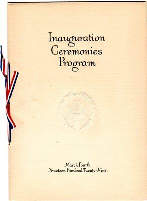 1929 Herbert Hoover Scarce Inauguration Ceremonies Program