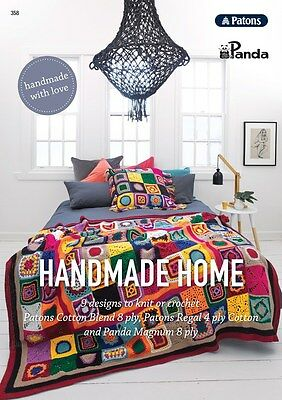 Patons Panda - Handmade Home 9 Designs To Knit Or Crochet  Pattern Book #358