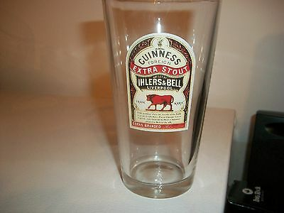 Guinness Extra Stout-Ihlers&bell-Liverpool Beer Glass