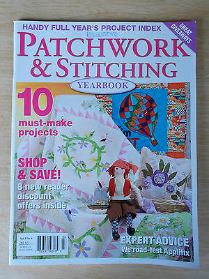 Patchwork & Stitching Vol 9 #6~Quilts~Pirate~Doll~Embroidery~Placemat~Needlecase
