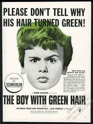 1948 The Boy With Green Hair movie release vintage print ad