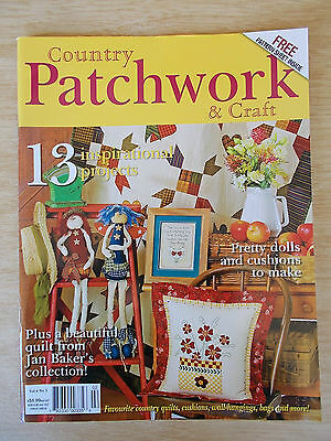 Country Patchwork & Craft  Vol 6 #3~Quilts~Twin Dolls~Sewing Pail~13 Projects