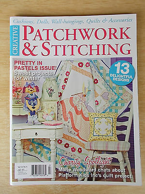 Patchwork & Stitching Vol 14 #5~Quilts~Doll~Bibs~Mobile~Pincushions~Embroidery