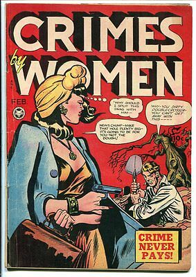 Crimes By Women #5 Pre-Code Crime Fox Features 1949 Vg