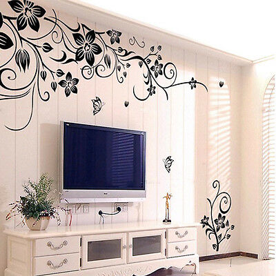 Hee Grand Removable Vinyl Wall Sticker Mural Decal Art- Flowers and Vine Sticker