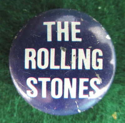 THE ROLLING STONES ORIGINAL 1960's 23 MM PINBACK BUTTON PIN BADGE #341
