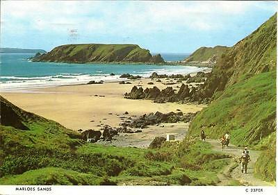 Marloes Sands, Pembrokeshire - Posted Postcard 1987