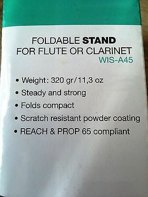 Flute/Clarinet folderable stand with box never openned unwanted gift