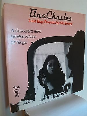 Tina Charles-Love Bug / Sweets For My Sweet  -1977 Single Vinyl Record