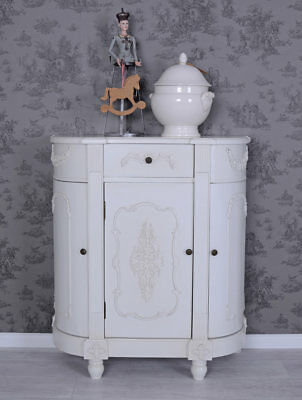 Vintage Placard Blanc Cabinet Commode Shabby Chic