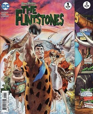 The FLINTSTONES #1,2,3,4,5,6 DC Comics Hanna-Barbera Fred Wilma Barney Betty SET