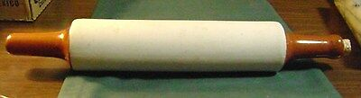 Vintage Stoneware Rolling Pin With Cork In End