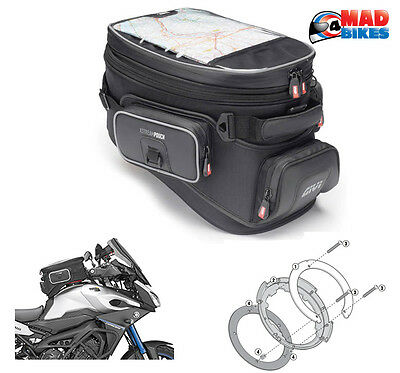Givi XS308 TankLock Tank Bag & Connection Ring for Yamaha MT-09 Tracer 2015, 16