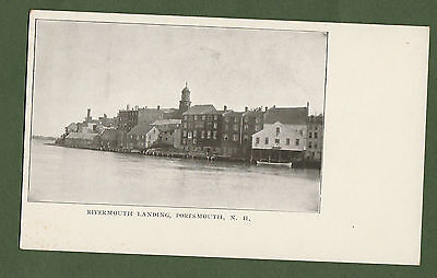 N H Portsmouth Rivermouth Landing Scenic Postcard