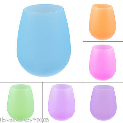1 Pc Foldable Unbreakable Collapsible Stemless Silicone Beer Wine Cup 10.6cm