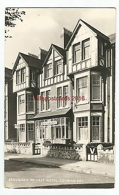 Wales Colwyn Bay Beaumaris Private Hotel Real Photo Vintage Postcard 07.12