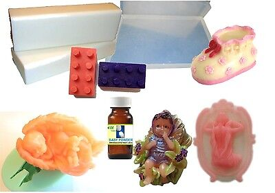 Baby Love DIY Soap Making Kit, Melt and Pour, Easy, All you need! 4 x Moulds