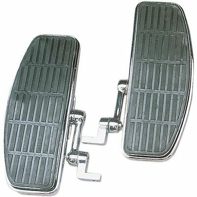 Chrome Bolt-On Adjustable Floorboards For Harley-Davidson Softail