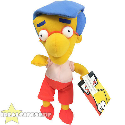"Official Milhouse Soft Plush Toy 12"" Tall With Tags The Simpsons Tv Film Toy"