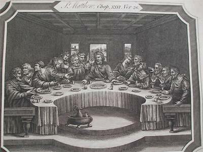 1811 ENGRAVING THE LAST SUPPER Engraved by BARLOW for The New Testament