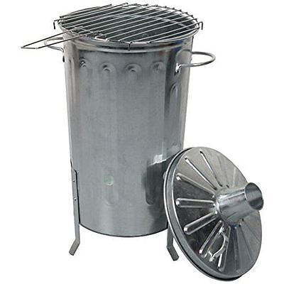 18 Litre Garden Metal Incinerator Fire Burning Bin and BBQ Barbeque Grill Set