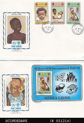 SIERRA LEONE - 1970 INTERNATIONAL YEAR OF THE CHILD - FDC 2nos