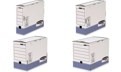 Fellowes BANKERS BOX SYSTEM Archiv-Schachtel, blau, (B)100mm 0043859712182